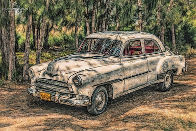 Old Car Creative Edit, Cuba