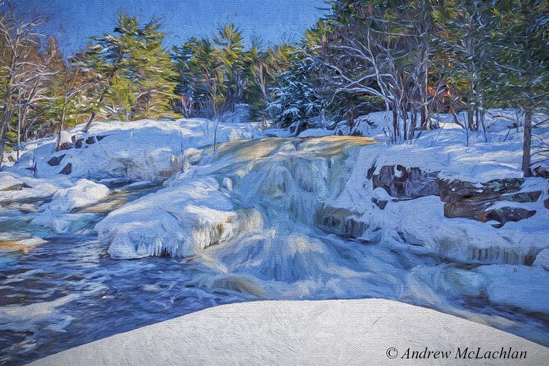 Lower Rosseau Falls in Winter