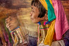 Inle Lake lady with neck rings, Myanmar