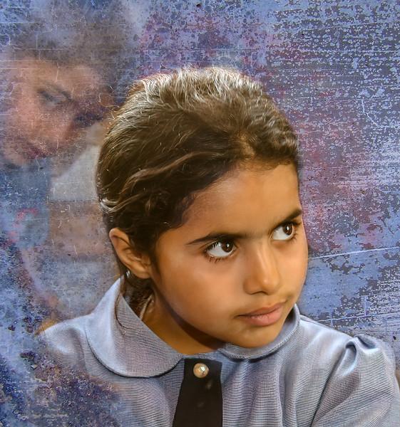 Beduoin school girl, Jordan