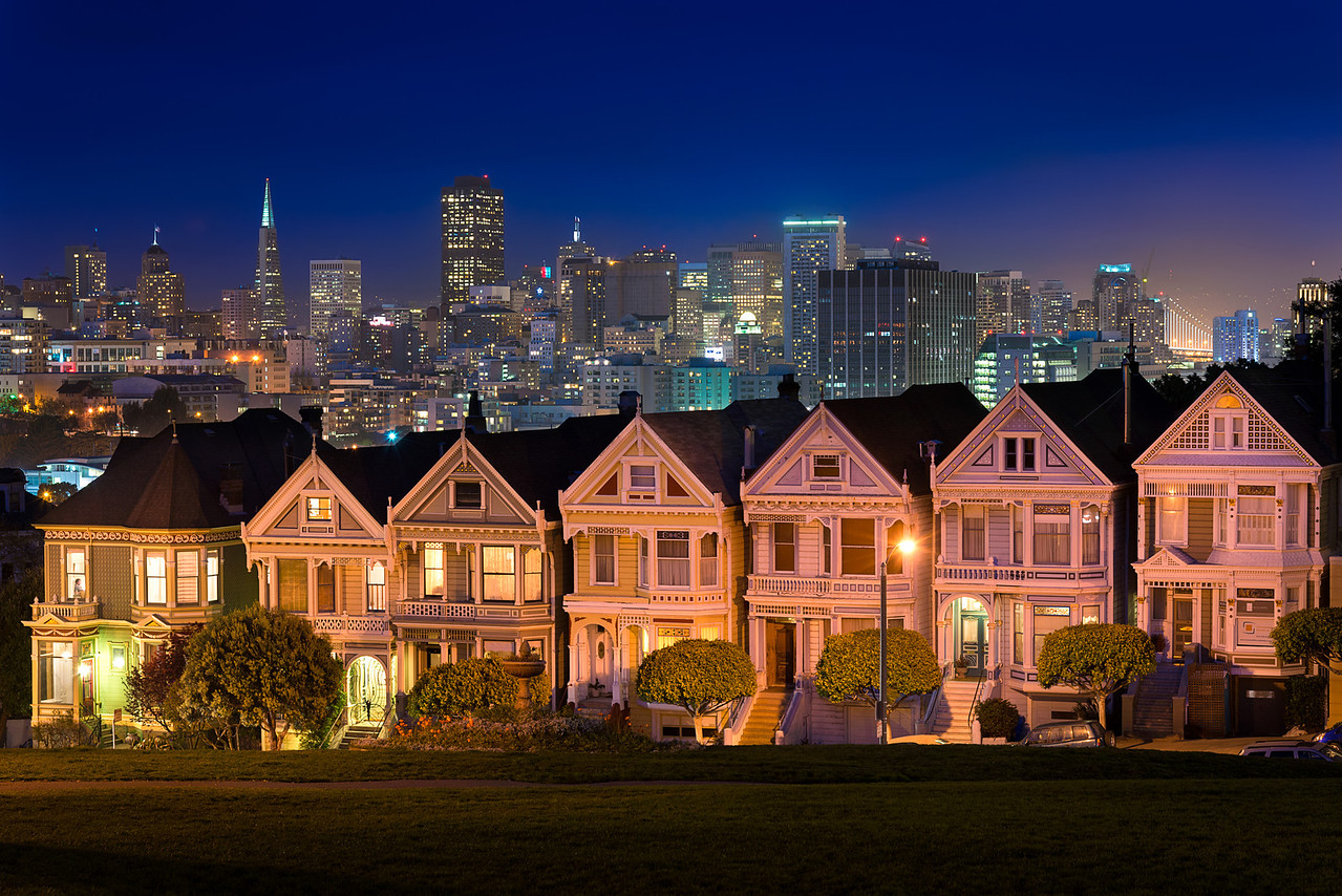 Painted Ladies at Twilight