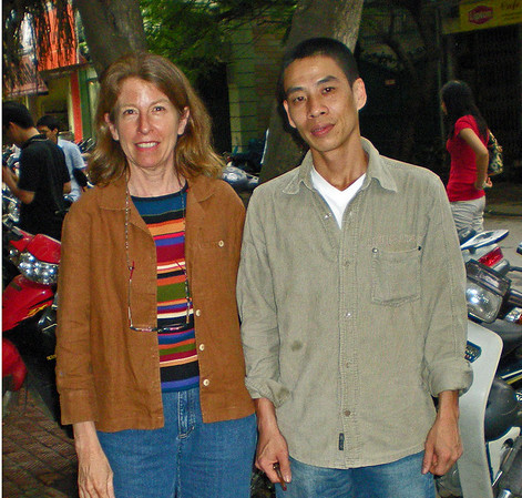 With Minh Phuoc in Hanoi outside the Dong Son Foundation April, 2009.