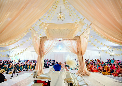 The beautiful ceremony setup, view from the other side. Decor by @anaisevnts , tent by @cprandtents                                                             @amrithadhatt and Adam @fitnesshalpers wedding