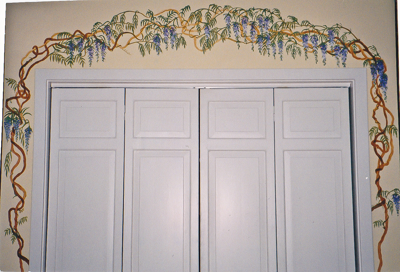 Contact: April Bensch<br /> Phone: 843-997-9917<br /> E-Mail: aprilbensch@sc.rr.com<br /> Wisteria mural<br /> Call for mural pricing