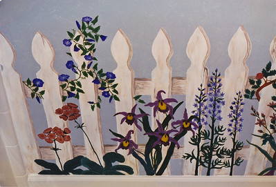 fence with flowers mural call for mural pricing 843-997-9917 aprilbensch@sc.rr.com