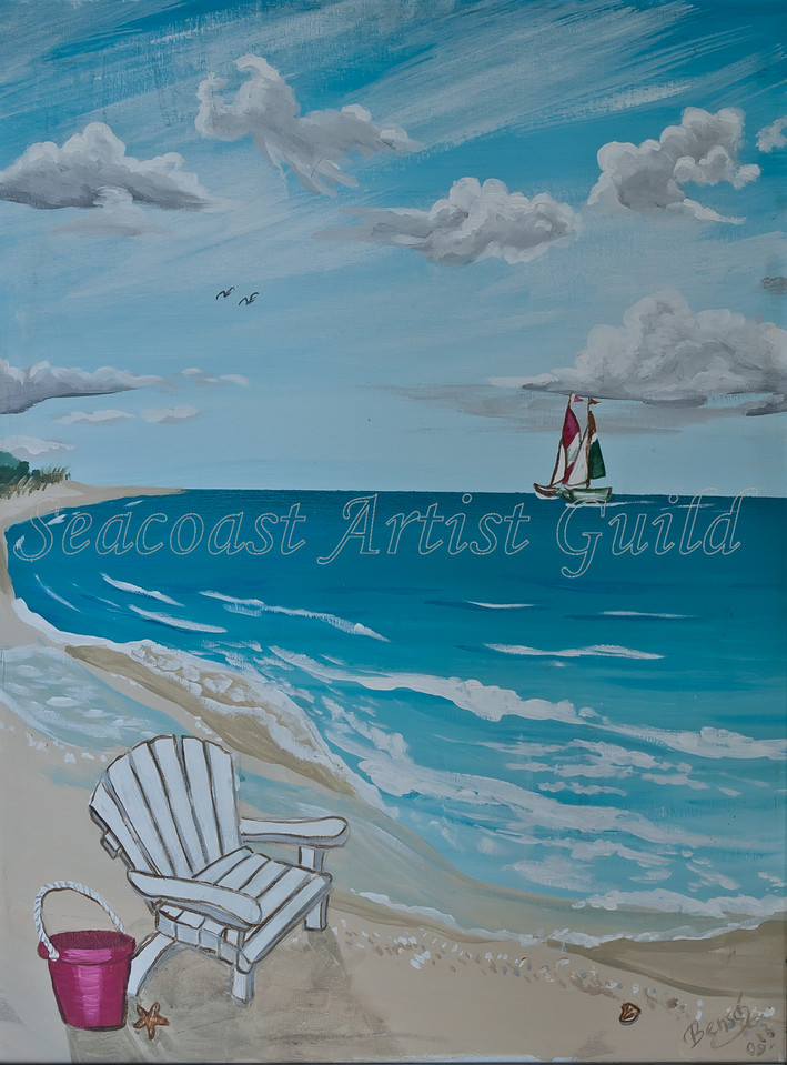 """Name: View to the beach (Part 1 of set)<br /> Medium: Acrylic with 1"""" wide frame<br /> Size: <br /> Price: $210 for the set<br /> Phone: 843-997-9917<br /> Contact: April Bensch<br /> E-Mail: aprilbensch@sc.rr.com"""