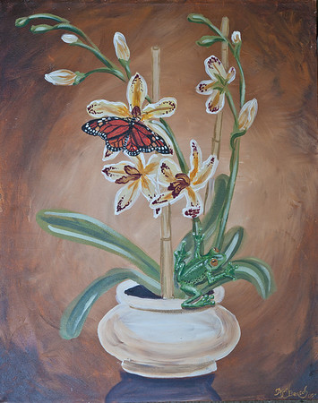 Name: Exotic Tastes Medium: Acrylic Size:  Price: $57 Phone: 843-997-9917 Contact: April Bensch E-Mail: aprilbensch@sc.rr.com