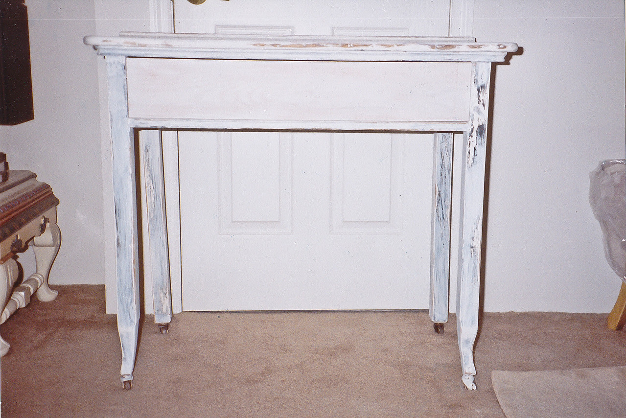 BEFORE picture of table bought for $5.00 at yard sale<br /> Contact: April Bensch<br /> Phone: 843-997-9917<br /> E-Mail: aprilbensch@sc.rr.com