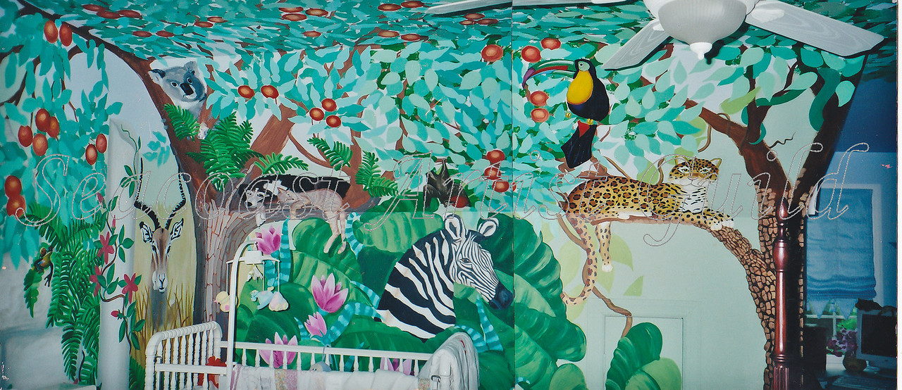 Contact: April Bensch<br /> Phone: 843-997-9917<br /> E-Mail: aprilbensch@sc.rr.com<br /> children's jungle room mural