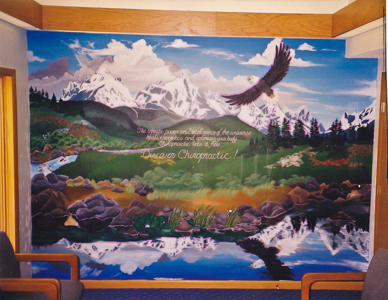 Contact: April Bensch<br /> Phone: 843-997-9917<br /> E-Mail: aprilbensch@sc.rr.com<br /> Mural for O'Neil Chiropractic<br /> Call for mural pricing