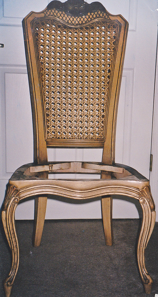 Contact: April Bensch<br /> Phone: 843-997-9917<br /> E-Mail: aprilbensch@sc.rr.com<br /> before picture of chair to be refinished