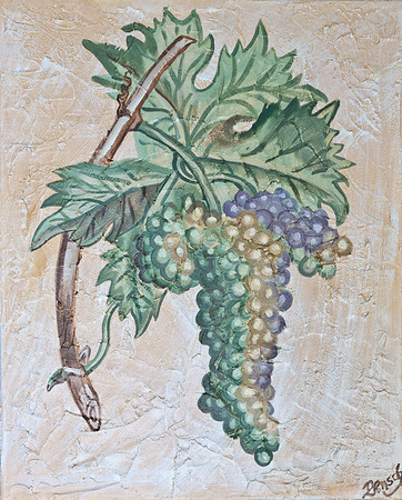 Name: The Vine Medium: Acrylic on stucco Size:  Price: $98 Phone: 843-997-9917 Contact: April Bensch E-Mail: aprilbensch@sc.rr.com