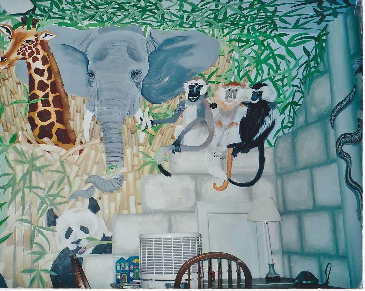 Contact: April Bensch<br /> Phone: 843-997-9917<br /> E-Mail: aprilbensch@sc.rr.com<br /> chidren's room jungle mural