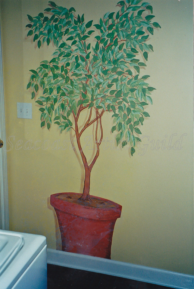 Contact: April Bensch<br /> Phone: 843-997-9917<br /> E-Mail: aprilbensch@sc.rr.com<br /> faux ficus<br /> Call for mural pricing
