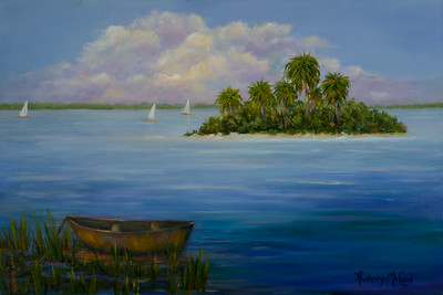 Name: Oasis Medium: Oil Size: 16 X 24  Price: $375  Contact: Audrey McLeod  E-Mail: riverartist@aol.com