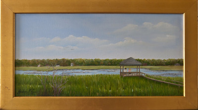 "Name: Pawleys Creek Medium: Oil Size: 12""X24"" Price:  (SOLD) Contact: Audrey McLeod E-Mail: riverartist@aol.com"