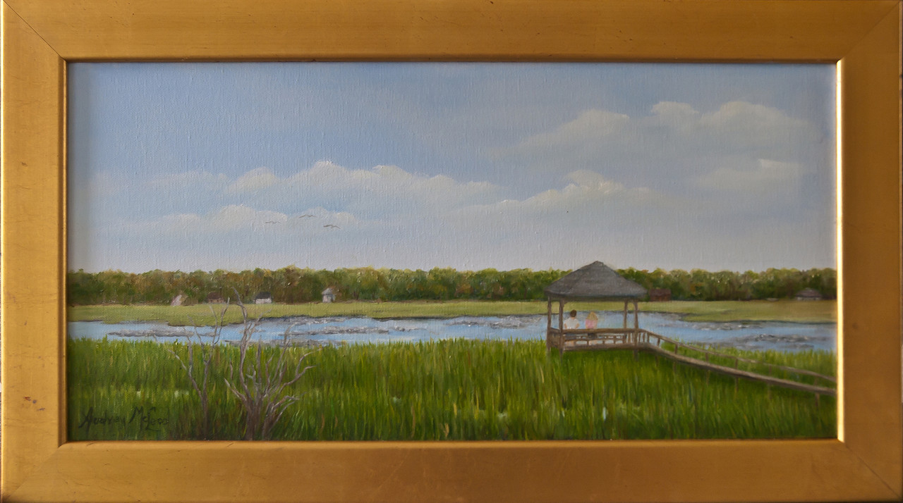 "Name: Pawleys Creek<br /> Medium: Oil<br /> Size: 12""X24""<br /> Price:  (SOLD)<br /> Contact: Audrey McLeod<br /> E-Mail: riverartist@aol.com"
