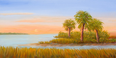 Name: Coastal Bay (SOLD) Medium: Oil Size: 8 X 16 Price: $125 Contact: Audrey McLeod E-Mail: riverartist@aol.com