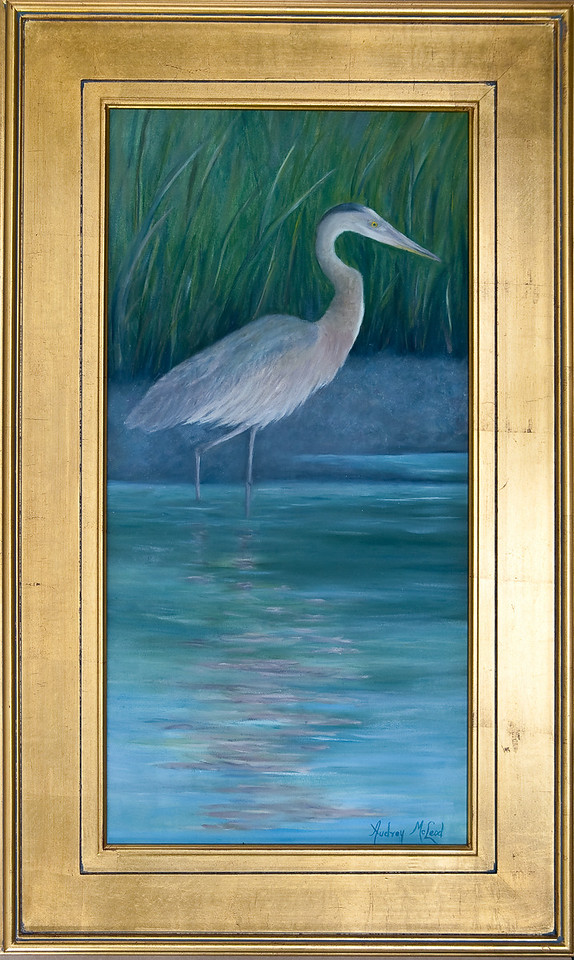 "Name: Patience<br /> Medium: Oil<br /> Size: 15""X30""<br /> Price: SOLD<br /> Contact: Audrey McLeod<br /> E-Mail: riverartist@aol.com"