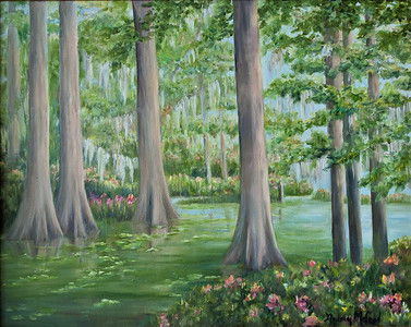 "Name: Romancing the Glade Medium: Oil Size: 16""X20"" Price: $ SOLD Contact: Audrey McLeod E-Mail: riverartist@aol.com"