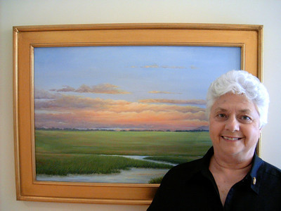 AUDREY MCLEOD  AUDREY MCLEOD - BIOGRAPHY  Audrey McLeod has lived in the 'Lowcountry' of South Carolina all her life. Even as a child she would be found drawing or painting and 'making Art' in various ways. After high school she was accepted into an art school but went on to college, majoring in business and worked in the insurance industry for 30 years. She now lives with her husband near Black River in Georgetown County.  Even during these working years, she continued to paint, taking workshops and studying with many prominent artists in the Carolinas and Georgia. Building on these lessons learned and encouraged by many friends, collectors, and instructors, she continues to pursue her art. Instructors have told her to 'paint what you know and paint what you love'. So, the scenes she creates focuses on color and light. The scenes vary and may be those of coastal landscapes and trees, local wildlife or flowers and gardens.  The subjects she chooses would depend on what inspires her at a particular moment. She feels her role as an artist is to see the beauty of our world and to depict it in a way that those seeing her work, could feel what she felt at that time.  Painting primarily in Oils and her work can be found in businesses and homes throughout the country. Currently she shows her work at the Georgetown Art Gallery in Georgetown SC, Sunset River Marketplace in Calabash NC, the Asheville Executive Center in Asheville NC and at the Keepsakes shop at Brookgreen Gardens as well as several other local venues. Her work can also be seen at the new Seacoast Artists Gallery at The Market Common in Myrtle Beach, SC. Her work is on display at several State Parks in South Carolina as she was accepted into the Artists in Residence Program several times in the past. She has been juried into and received recognition in many regional shows and exhibits and is a member of Secoast Artists Guild, Murrells Inlet SC.  The inspiration for my art is from my past experiences and personal interests as well as my love for the world around me. The landscapes of our area are beautiful and are endless subjects that show the wonder of nature God has given us here in South Carolina.