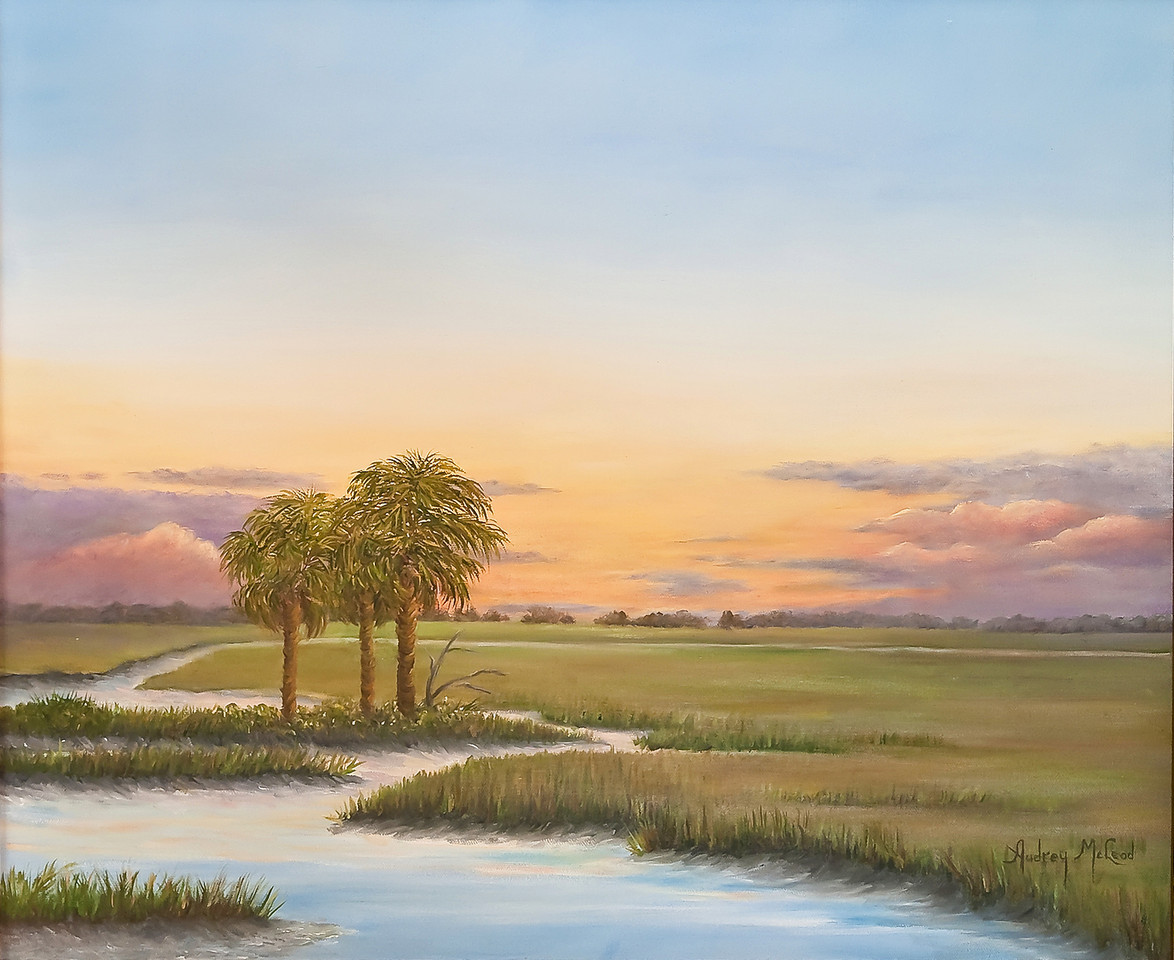Name: Santee Sunset (SOLD)<br /> Medium: Oil<br /> Size: 18x24<br /> Price: $<br /> Contact: Audrey McLeod<br /> E-Mail: riverartist@aol.com