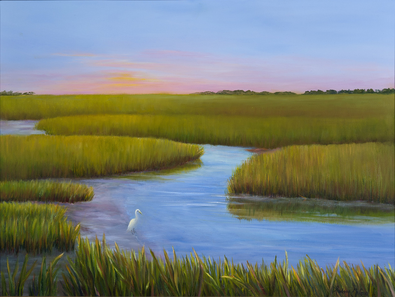 Name: Low Tide at the Marsh (SOLD)<br /> Medium: Oil<br /> Size: 18X24<br /> Price: $675.00<br /> Contact: Audrey McLeod<br /> E-Mail: riverartist@aol.com