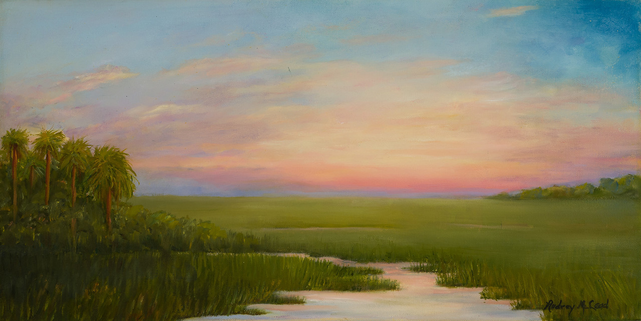 Name: Lowcountry Marsh<br /> Medium: Oil<br /> Size: 12 X 24<br /> Price: $225<br /> Contact: Audrey McLeod<br /> E-Mail: riverartist@aol.com