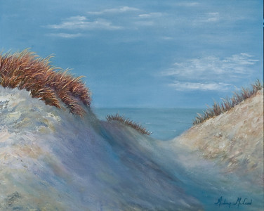 "Name: Dune Shadows Medium: Oil Size: 16""X20"" Price: $250.00 Contact: Audrey McLeod E-Mail: riverartist@aol.com"