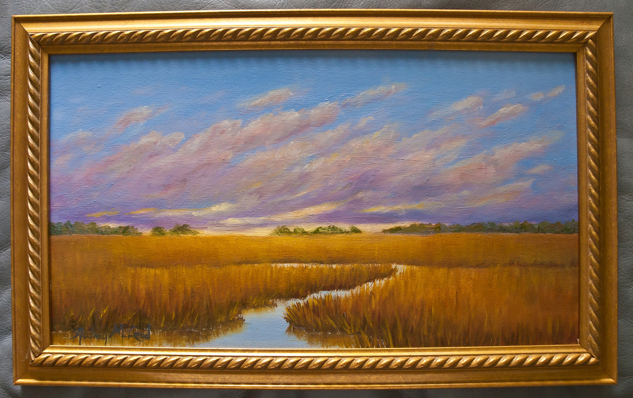 "Name: Colors of a Winter Morning<br /> Medium: Oil<br /> Size: 10""X18""<br /> Price:  (SOLD)<br /> Contact: Audrey McLeod<br /> E-Mail: riverartist@aol.com"