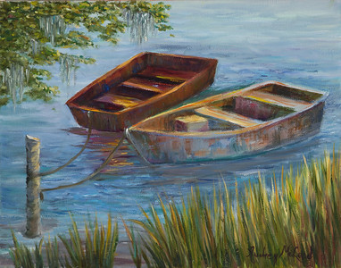 Name: Two Wooden Boats (SOLD) Medium: Oil Size: 11 X 14 Price: $150 Contact: Audrey McLeod E-Mail: riverartist@aol.com