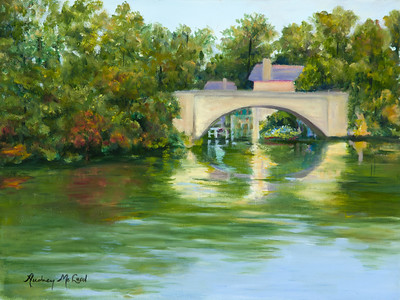 Name: Lake Lure Bridge Medium: Oil Size: 12X16 Price: $325.00 Contact: Audrey McLeod E-Mail: riverartist@aol.com