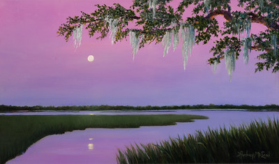 Name: Moonlit Medium: Oil Size: 14x24 Price: $325 Contact: Audrey McLeod E-Mail: riverartist@aol.com