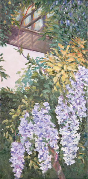 Name: Springtime & Wisteria Medium: Oil Size: 8x16 Price: $150 Contact: Audrey McLeod E-Mail: riverartist@aol.com