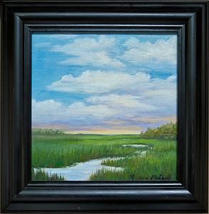 "Name: Low Country Morning Medium: Oil Size: 8""X8"" Price: $150.00 Contact: Audrey McLeod E-Mail: riverartist@aol.com"