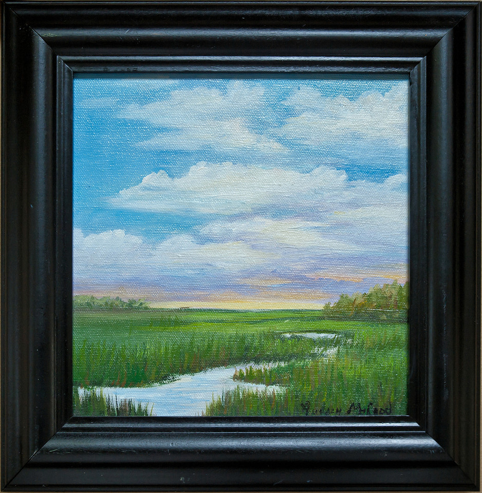 "Name: Low Country Morning<br /> Medium: Oil<br /> Size: 8""X8""<br /> Price: $150.00<br /> Contact: Audrey McLeod<br /> E-Mail: riverartist@aol.com"