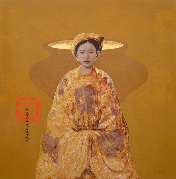 Bui Huu Hung - Lady with Incense Burner