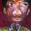 Chad Piersath, Portrait 2, 2004. Oil on board, 8.5 x 12 in.