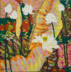 Dang Phuong Viet - White Lotus with Pink Tone