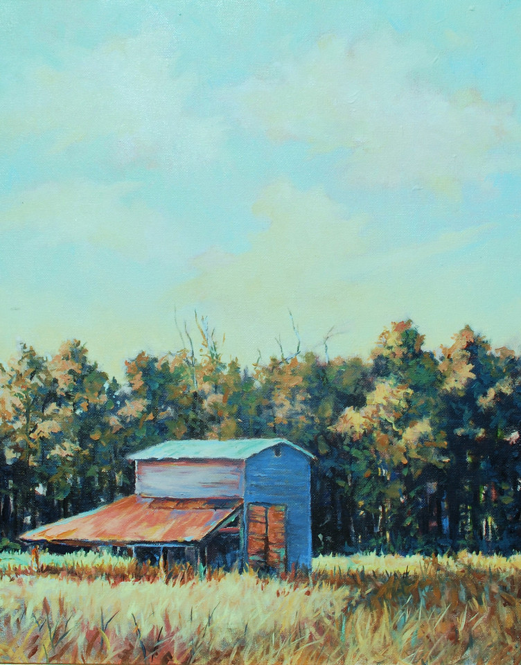 Name of Picture: BARN SERIES ( BLUE MORNING)<br /> Medium: OIL ON CANVAS<br /> Size: 16 X 20<br /> Price: $550.00<br /> Contact: 843-454 6038<br /> E-Mail: dennystevenso@aol.com