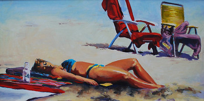 Name of Picture: DAY AT THE BEACH Medium: OIL ON CANVAS Size: 10 X 16 Price: $250.00 Contact: 843-454 6038 E-Mail: dennystevenso@aol.com