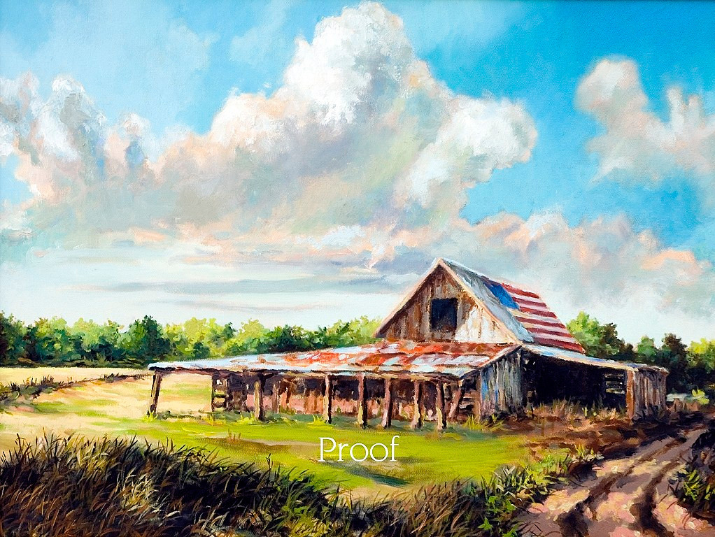 Name of Picture: FREDDIE'S BARN<br /> Medium: OILS<br /> Size: 16 X 24<br /> Price: $750.00<br /> Contact: 843-454 6038<br /> E-Mail: dennystevenso@aol.com