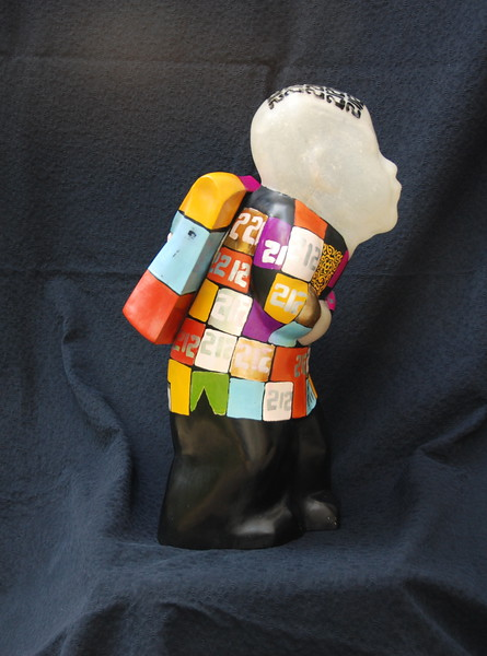 Artist - Dinh Cong Dat<br /> Description - School Boy Sculpture - 10 <br /> Media - Composite with lacquer, gold and silver leaf and pigments<br /> Individual Dimensions - Height - 50cm<br /> Status - Private Collection Singapore    <br /> <br /> Exhibited at the  ANA InterContinental Hotel