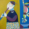 Hoang Phuong Vy, The Flautist, 2011. 50 X 60 cm. Oil on canvas. <b>(SOLD)</b>