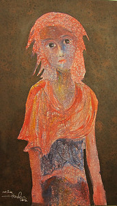 Hour Seyha - Untitled (2) (from Children of the Countryside series), Oil on canvas, 2011  SOLD