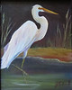 Name: Egret<br /> Medium: Oil  (Framed)<br /> Size: 10 X 8<br /> Price: $60<br /> Contact: Jackie Stacharowski<br /> E-Mail: Artist Jackie@yahoo.com