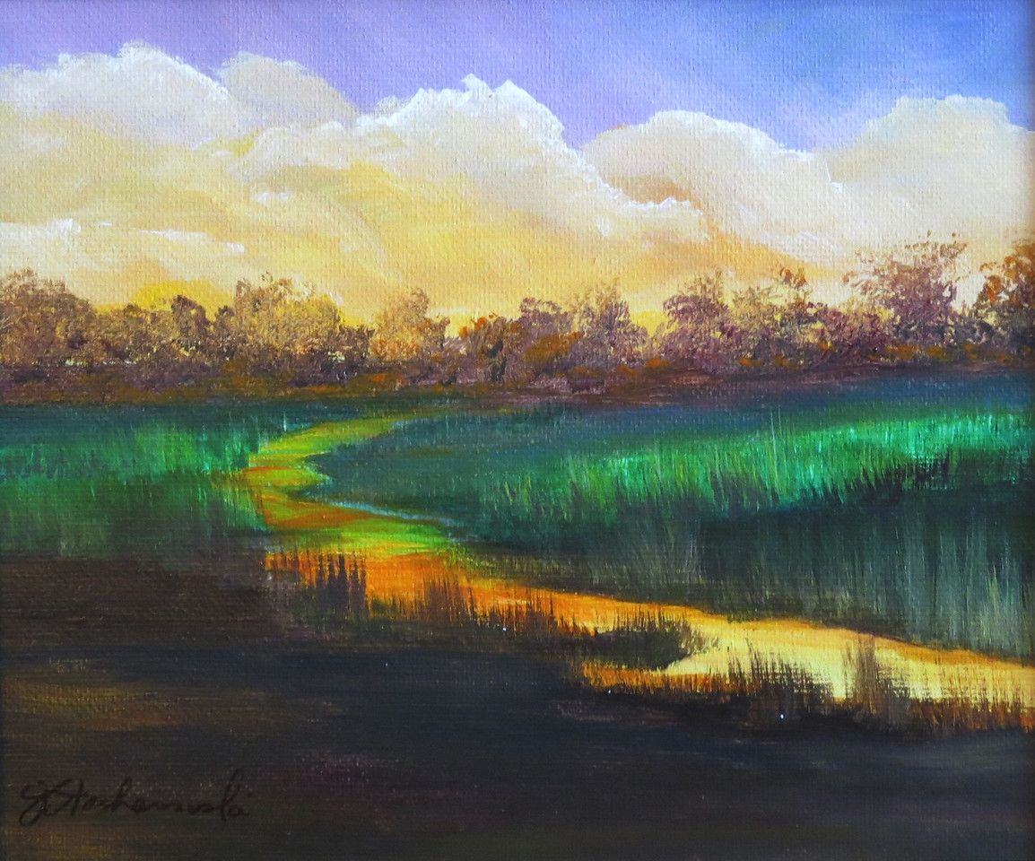 Name: Golden Morning<br /> Medium: Acrylic (Framed)<br /> Size: 8 X 10 <br /> Price: $60<br /> Contact: Jackie Stacharowski<br /> E-Mail: Artist Jackie@yahoo.com