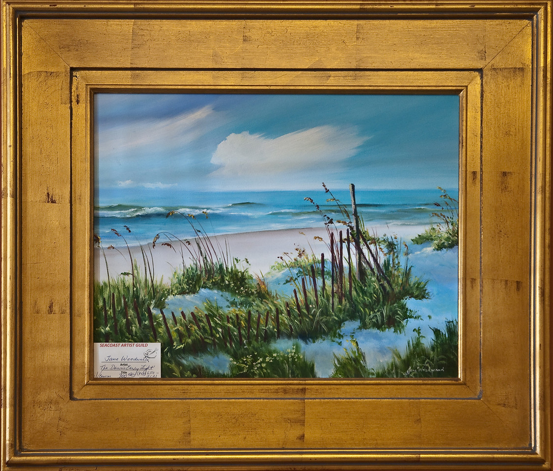 Name: Dune's Early Light<br /> Medium: Oil<br /> Size: 20x24<br /> Price: $900<br /> Contact: Jane Woodward<br /> E-Mail:  JaneWoodward@msn.com