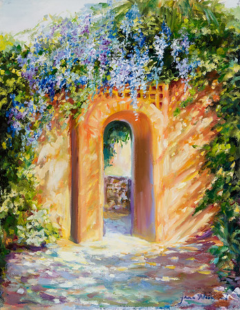 Name: Atalaya with Wisteria Medium: Oil Size: 14 X 18 Price: $ Contact: Jane Woodward E-Mail: JaneWoodward@msn.com