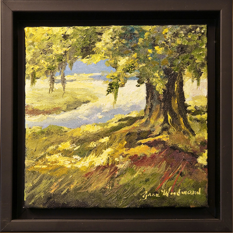 """Name: Summer time (SOLD)<br /> Medium: Oil<br /> Size: 6""""x6""""<br /> Price: $185<br /> Contact: Jane Woodward<br /> E-Mail:  JaneWoodward@msn.com"""